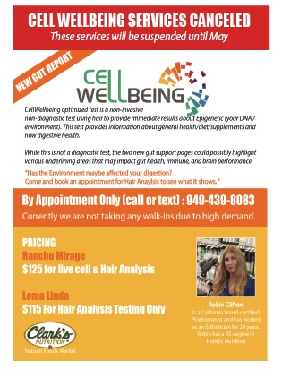 In store Services: Cellular Wellbeing