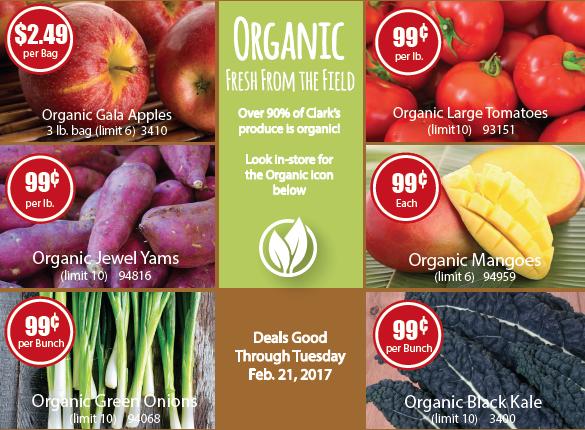Organic Produce on Hot Deal