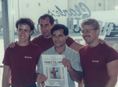 Mr. Olympia, Franco Columbo - with Jeff Clark, Ray DiGiacomo, and Starkie Sowers