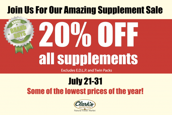 20% OFF SUPPLEMENTS