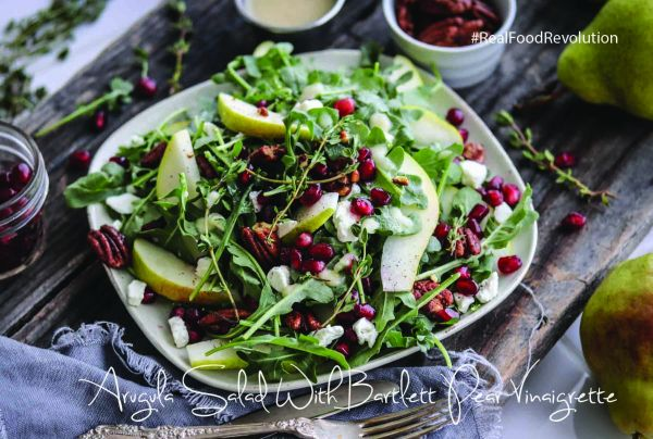 Arugula Salad with Bartlett Pear Vinaigrette
