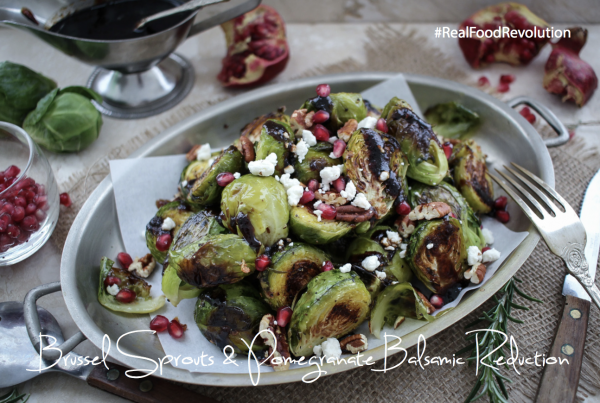 Brussel Sprouts & Pomegranate Balsamic Reduction