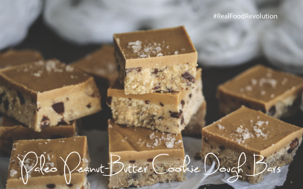 Paleo Peanut Butter Cookie Dough Bars