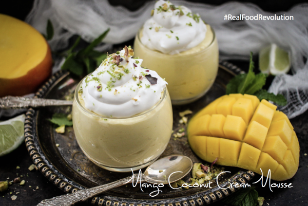 Mango Coconut Cream Mousse