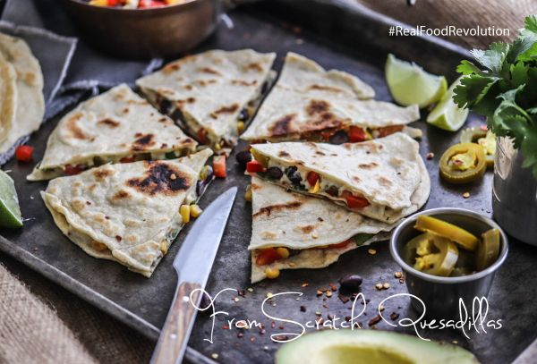 From Scratch Vegan Quesadillas