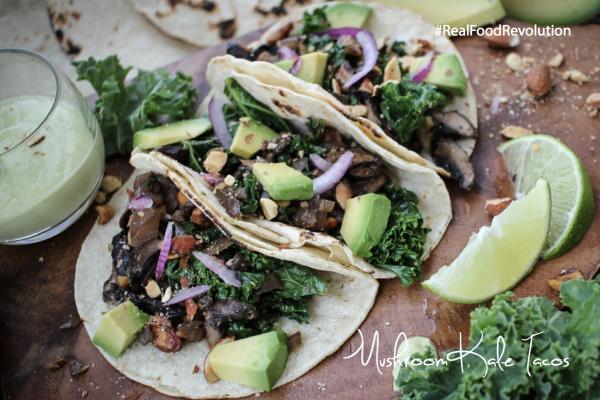 Mushroom Kale Tacos
