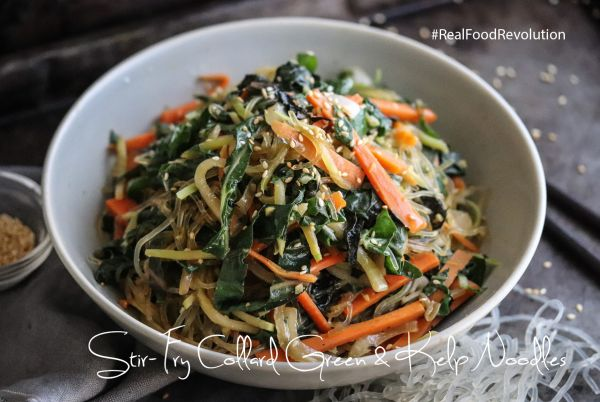 Stir-fry Collard Green & Kelp Noodles