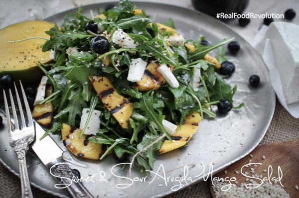 Sweet & Sour Arugula Mango Salad