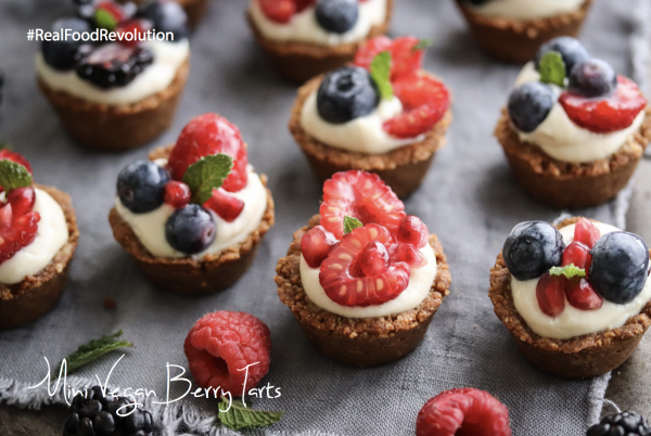 Mini Vegan Berry Tarts