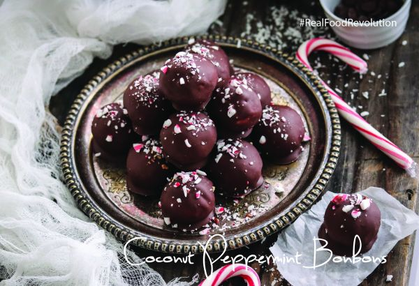Vegan Coconut Peppermint Bonbons