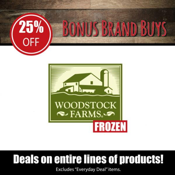 Woodstock Farms Frozen - 25% Off