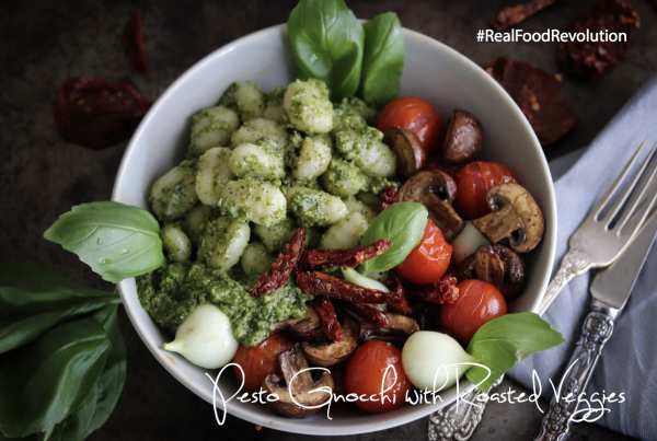 Pesto Gnocchi with Roasted Veggies