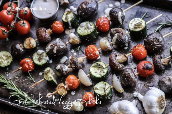 Garlic Roasted Veggie Kabobs