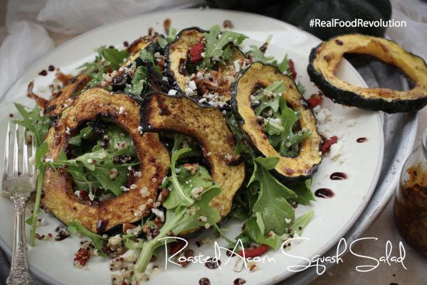 Roasted Acron Squash Salad