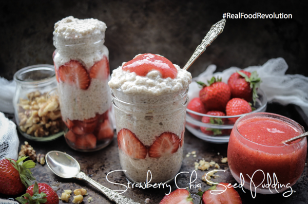 Strawberry Chia Seed Pudding