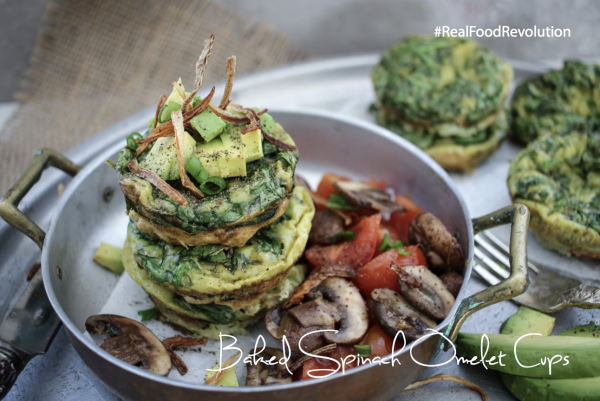 Baked Spinach Omelet Cups