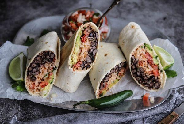 Veggie & Rice Bean Burrito