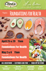 Lecture: Foundations For Health