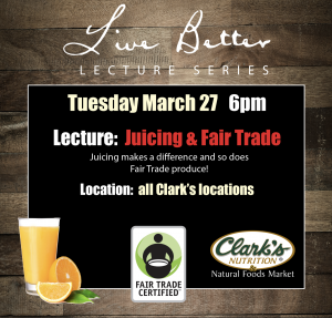 Lecture: Juicing & Fair Trade
